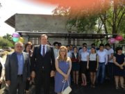 Bus Stop Opening Ceremony in Ashtarak
